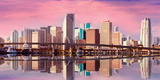 Panorama of Downtown-Miami Art by  Fotomak