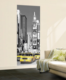 New York City Taxis in Times Square Giant Mural Poster Mural de papel de parede