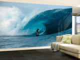 Oahu Surfer Riding Wave Wall Mural