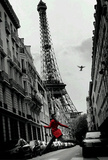 La Veste Rouge (The Red Jacket, Paris) 3-D Art Poster Lenticular Print Photo