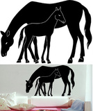 Mare and Foal 9 Stickers Wall Decal