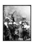 The Squirrelton Twins Premium Giclee Print by Grand Ole Bestiary