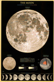 The Moon Solar System Educational Chart Poster Posters