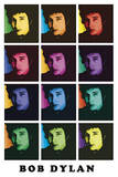 Bob Dylan Color Pop Art Music Poster Print Posters