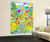 Jane Hirst Animal Safari Huge Wall Mura Art Print Poster Wall Mural