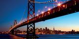 San Francisco Skyline and Bay Bridge at Sunset-California Posters af Dibrova