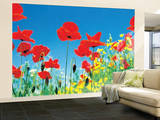Poppy Field Huge Wall Mural Art Print Poster Wandgemälde