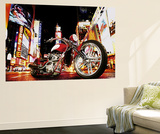 Todd Latimer Midnight Rider Motorcycle Mini Mural Huge Poster Art Print Tapettijuliste
