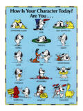 How Is Your Character Today Motivational Poster Art Print Pósters