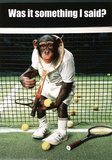 Monkey Tennis Was it Something I Said Humor Poster Print Photo