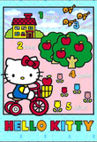 Hello Kitty Bicycle 3-D Lenticular Poster Print Prints