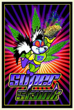 Super Skunk Pot Marijuana Blacklight Poster Print Print