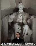 Barack Obama in Front of Lincoln Memorial Art Print Poster Reprodukcje