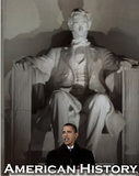 Barack Obama in Front of Lincoln Memorial Art Print Poster - Reprodüksiyon