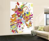 Reilly Flower Face Huge Wall Mural Art Print Poster Wallpaper Mural