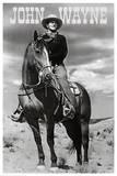 John Wayne (On Horse) Movie Poster Print Poster