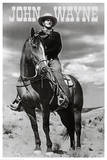John Wayne (On Horse) Movie Poster Print Poster