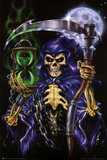 Time Keeper Grim Reaper Art Poster Print Prints