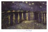 Vincent Van Gogh Starry Night Over the Rhone White Border Art Print Poster Print