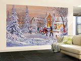 Pond Ice Hockey Wallpaper Mural