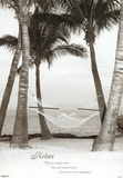 Relax Hammock on Beach Motivational Poster Print Prints