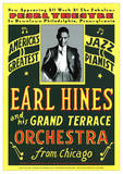Earl Hines and his Grand Terrace Orchestra from Chicago アートポスター