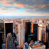 Manhattan at Sunset-Central Park Side View-New York Prints by Ilja Mašík