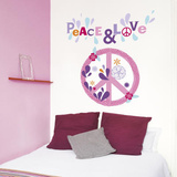Emilie Capman Peace &amp; Love Flower Wall Stickers Wall Decal