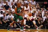 Miami, FL - May 28: Dwyane Wade and Ray Allen Photographic Print by Mike Ehrmann