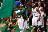 Boston, MA - June 03: Paul Pierce and Mickael Pietrus Photographie par Jared Wickerham