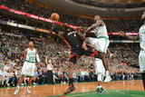 Boston, MA - June 3: LeBron James and Brandon Bass Photographic Print by Jesse D. Garrabrant