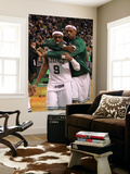 Boston, MA - June 03: Rajon Rondo and Paul Pierce Wall Mural by Jim Rogash
