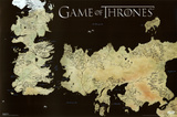 Game of Thrones Horizontal Map Kunstdrucke