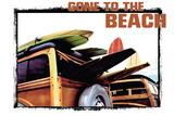 Gone to the Beach Blechschild