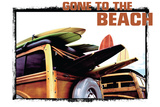 Gone to the Beach Cartel de chapa