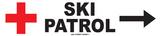 Disparatada patrulla de esquí Cartel de chapa