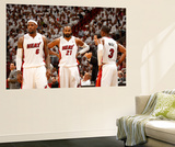 Miami, FL - May 28: LeBron James, Ronny Turiaf and Dwyane Wade Wall Mural by Issac Baldizon