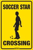 Soccer Star Crossing (Boy) Plakietka emaliowana