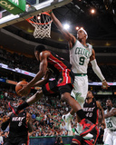 Boston, MA - June 3: Norris Cole and Rajon Rondo Fotografisk tryk af Brian Babineau