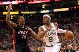 Boston, MA - June 03: Rajon Rondo and Mario Chalmers Photographic Print by Jim Rogash