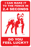 I can make it to the fence  (Pit Bull) Blechschild