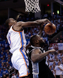 Oklahoma City, OK - June 2: Serge Ibaka and DeJuan Blair Photo by Brett Deering