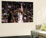 Boston, MA - June 03: Rajon Rondo and LeBron James Prints by Jim Rogash
