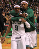 Boston, MA - June 03: Rajon Rondo and Paul Pierce Photographic Print by Jim Rogash