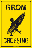 Grom Crossing Tin Sign