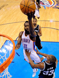 Oklahoma City, OK - June 2: James Harden and Boris Diaw Photographic Print