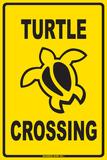 Turtle Crossing - Metal Tabela