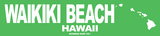 Waikiki Beach Tin Sign