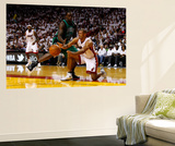 Miami, FL - May 28: Shane Battier and Brandon Bass Wall Mural by Mike Ehrmann
