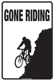 Gone Riding Plaque en métal